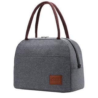 Sac repas isotherme gris