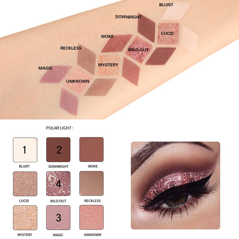 Pudaier Refreshing 9 Colors Eyeshadow Palette