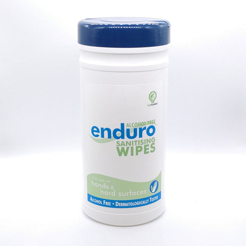 Enduro Alcohol Free Wipes Tube of 60 Wipes