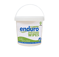 Enduro Non-Alcohol Sanitizing Wipes -  Bucket of 225 Wipes