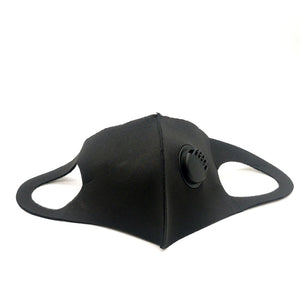 Reusable Black Face Covering with Filter