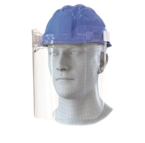Face Visor for Hard Hat, Attachable - Single Unit