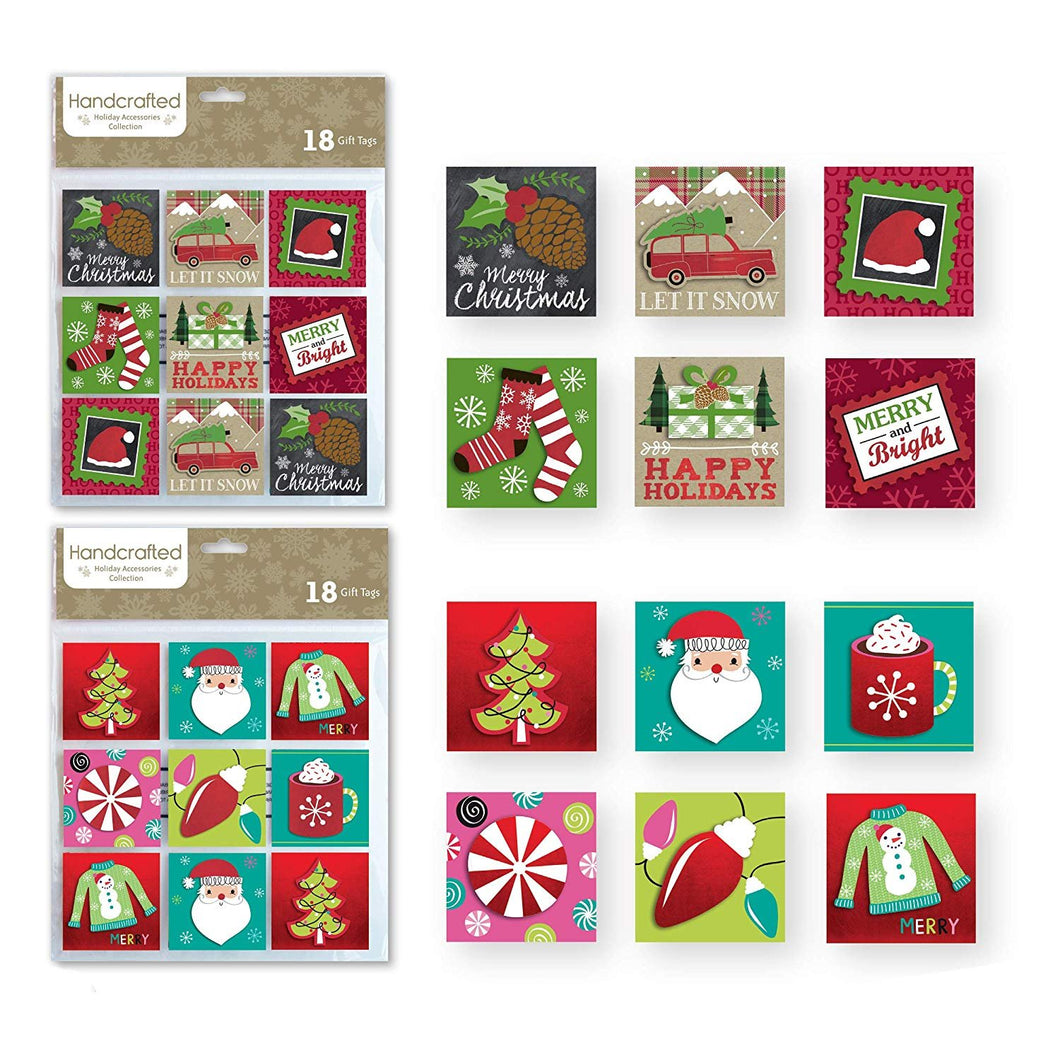 36 Count Christmas Gifting Tags, Holiday Gift Labels Gifting Supplies