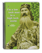 "Load image into Gallery viewer, 4 Duck Dynasty Spiral Bound Notebooks - 90 Wide Ruled Sheets 10.5"" x 8"" - Duck Dynasty Merchandise, Si Notepads, Faith Family Ducks Journals"