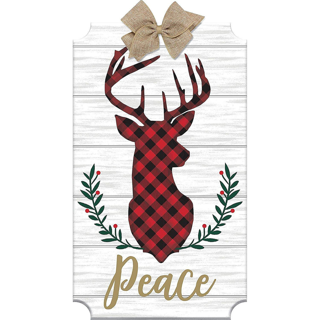 Peace Reindeer Easel Sign