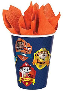 Paw Patrol Party Pack Seats 8 - Napkins, Plates, Cups and Tablecloth - Paw Patrol Adventures Party Supplies, Deluxe Party Pack