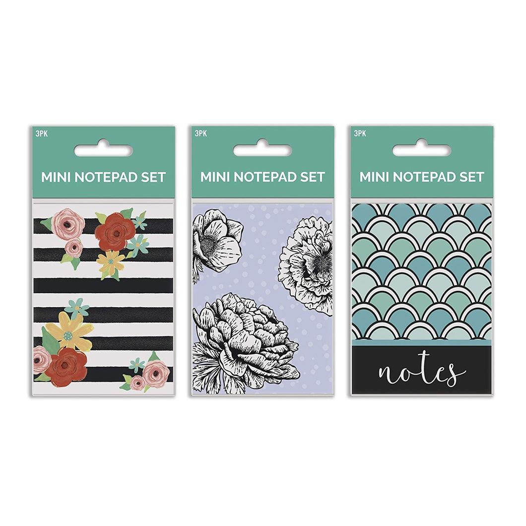 B-THERE Bundle of Mini Notepads - 9 Notebooks Total! 3 Different Designs - 3