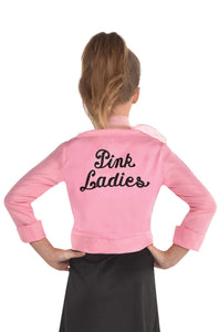 Grease, Pink Ladies Costume, Girl, Small, fits Sizes 4-6