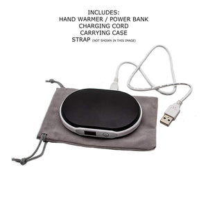 B-THERE 2-in-1 Hand Warmer & USB Power Bank Rechargeable Double Sided with High and Low 5600mAh Battery Charger with Digital Display