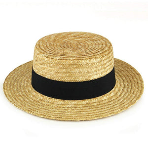 "Roaring '20s Costume Party Skimmer Hat, Black/Brown, Straw, 11"" x 11 1/2"" x 4"", 1-Piece"