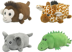 Conservation Critters Bundle of 4 Wildlife Artists Hubas African Animals: Monkey, Giraffe, Elephant and Alligator