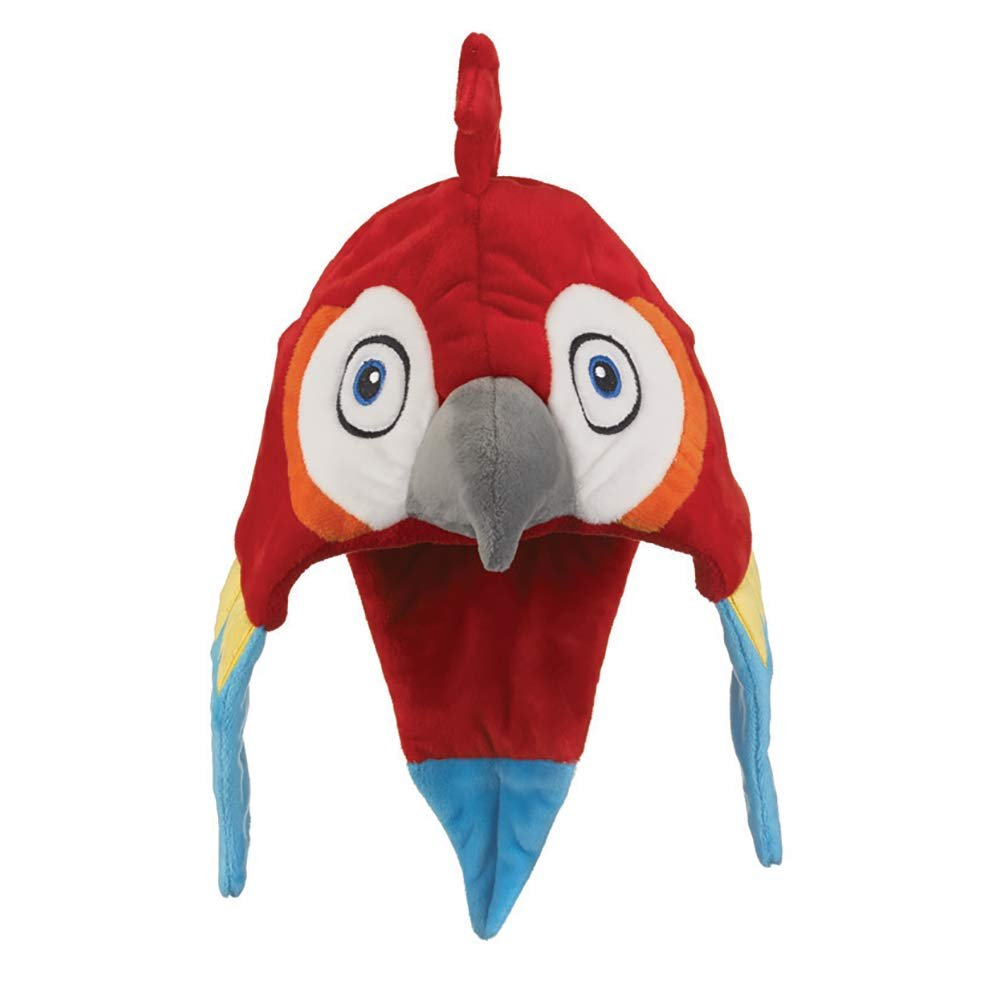Wild and Wonderful Hats by Wildlife Artists Macaw Plush Stuffed Animal Hat, Childrens Toy Animal Hat