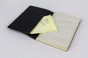 Personal Premium Journals, Pack of 3 Notepads 3.5in x 5.5in - Black Solid Color Lined Stationery Notebooks (Black)