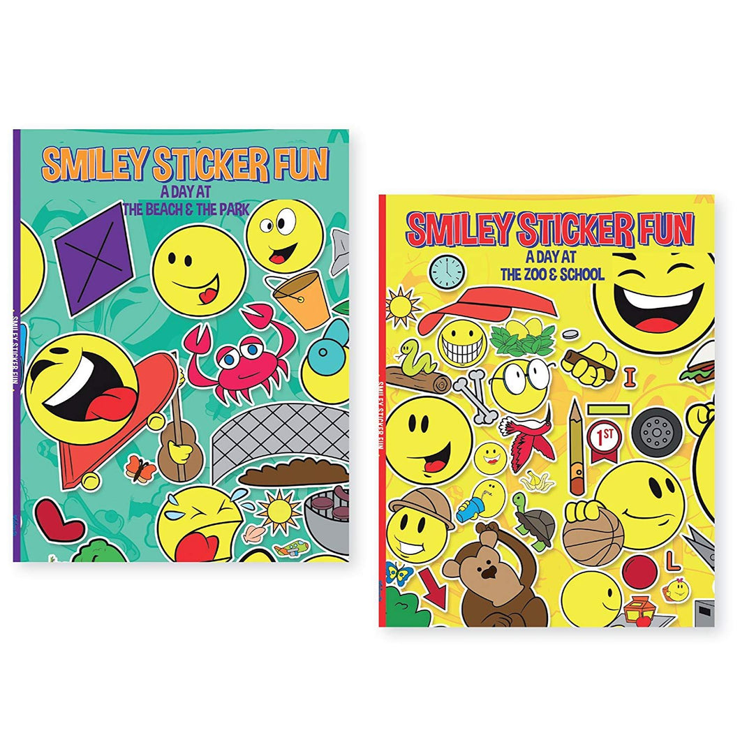 B-THERE Bundle of 2 Sticker Books - Smiley Sticker Fun
