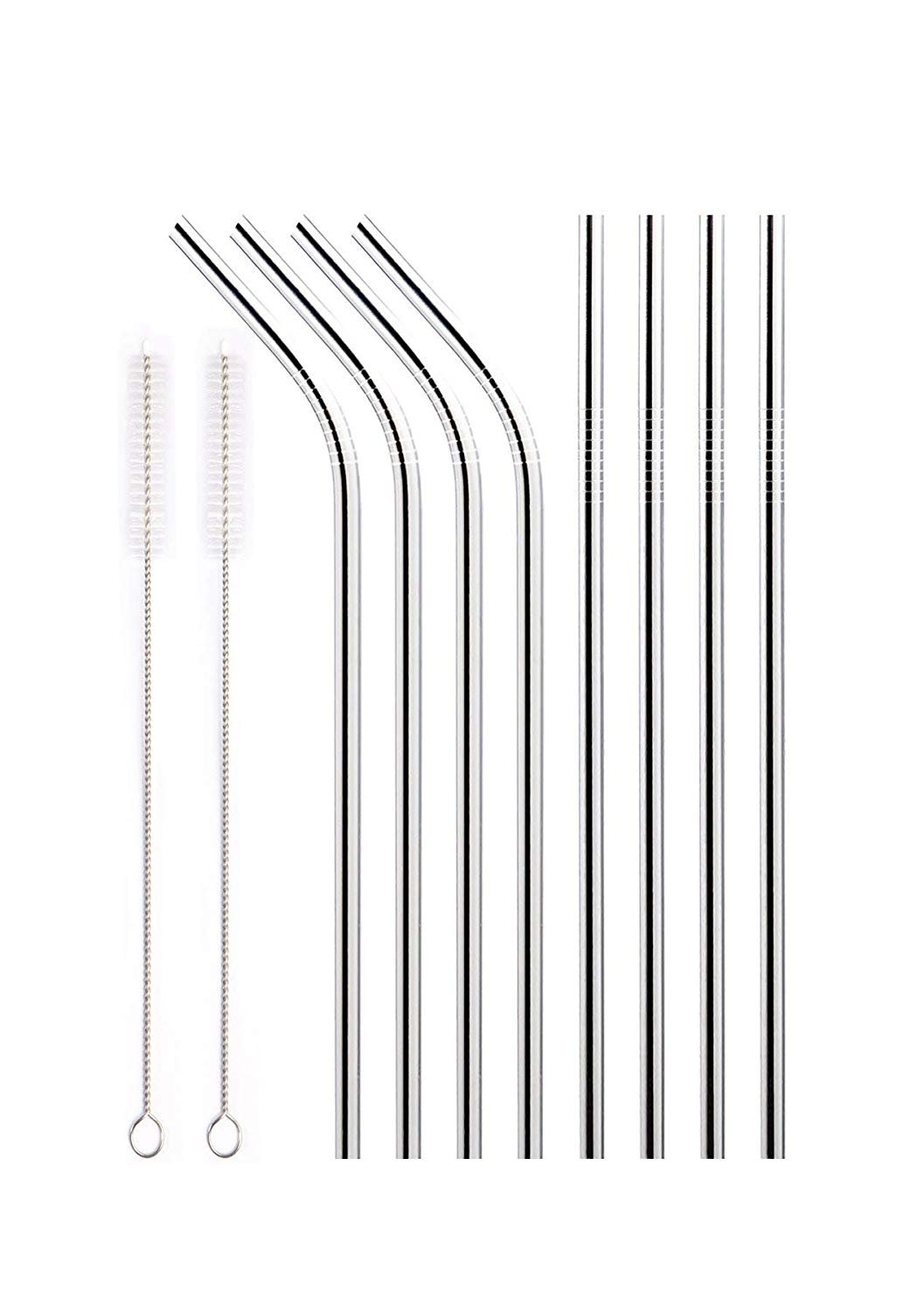 Red Smoothie Straws 9.45'' (6.5mm) - Pack of 300 Individually Wrapped Plastic Straws, Drinking Straws for Slushies, Wrapped Milkshake Straws (300ct)
