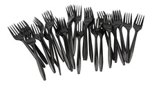 Load image into Gallery viewer, B-Kind Party Pack 100 Count Thick Strong and Durable Medium Weight Disposable Black Forks for Camping, Picnics, Parties, and Weddings