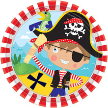 Load image into Gallery viewer, Little Pirate Dessert Plates 8ct