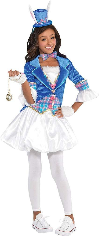 amscan 849772 Girls Down The Rabbit Hole Costume - Toddler (3-4) 1 Set