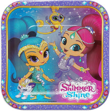Load image into Gallery viewer, American Greetings Shimmer & Shine Paper Dessert Plates, 8 Count