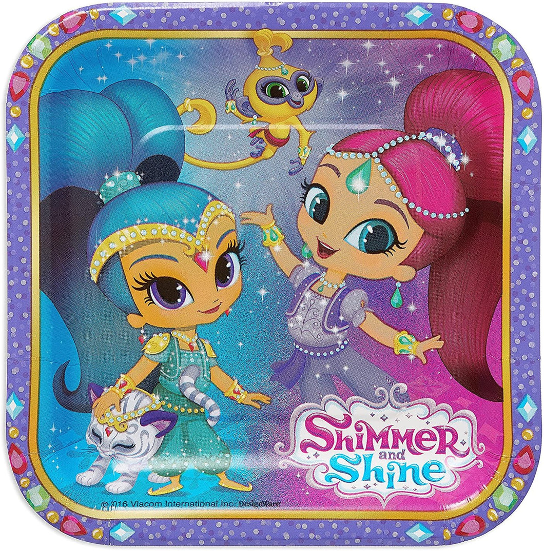 American Greetings Shimmer & Shine Paper Dessert Plates, 8 Count