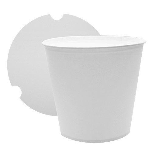 25 Count White Food Containers 170oz Large Food Buckets with Lids