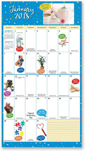 2 Count 16 Month Holiday Everyday! Calendar Includes September 2017-December 2018. Wacky and Unique Holidays for Everyday