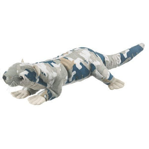 Wildlife Artists Camo Wild Zoo River Otter in a Unique Animal Camo Zoo Plush Stuffed Animal