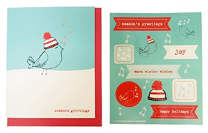 The Gift Wrap Company Small Boxed Holiday Cards with Seals, Claus & Cane