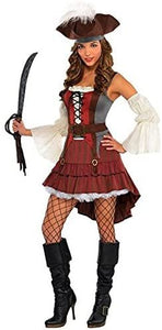 AMSCAN Castaway Pirate Halloween Costume for Women, Medium, with Included Accessories
