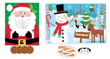 Load image into Gallery viewer, Christmas Party Games for Kids - 2 Holiday Games: Pin The Nose on the Snowman & Santa Disc Toss!