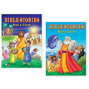 Bundle of 2 Bible Read and Color Coloring Books