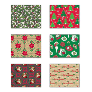 Bundle of 6 Rolls of Christmas Gift Wrapping Paper - Classic Christmas - 240 Total Sq Ft of Xmas Wrap