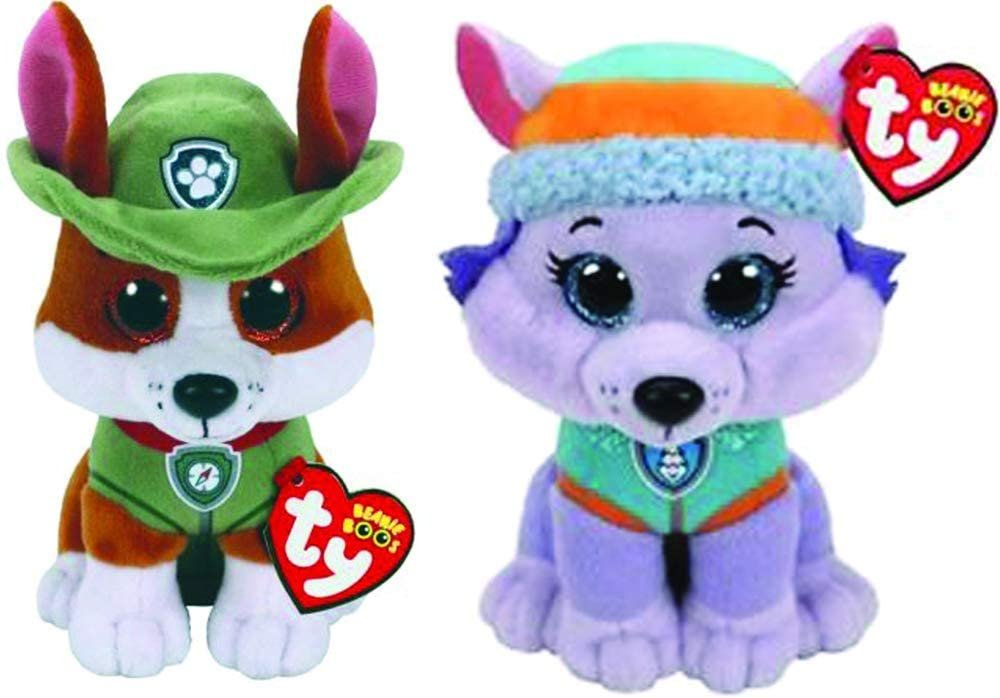 Ty Licensed Beanies - Paw Patrol Tracker & Everest 2 pc Set - 8