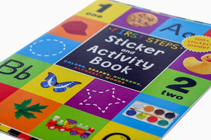 B-THERE Bundle of 2 Sticker Activity Books, Included 2 First Steps Sticker Activity Book. Early Education Books for Kids,Young Children, Toddlers, Preschool Students.