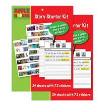 Load image into Gallery viewer, Pack of 2 Story Starter Kits for Children, Inspire a Unique Story with Stickers