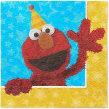 Load image into Gallery viewer, American Greetings Sesame Street Paper Napkins for Kids (16-Count)