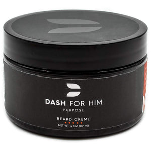 Dash For Him Beard Crème (Cream) Nourishment to Soften & Moisterize for All Beard Lengths