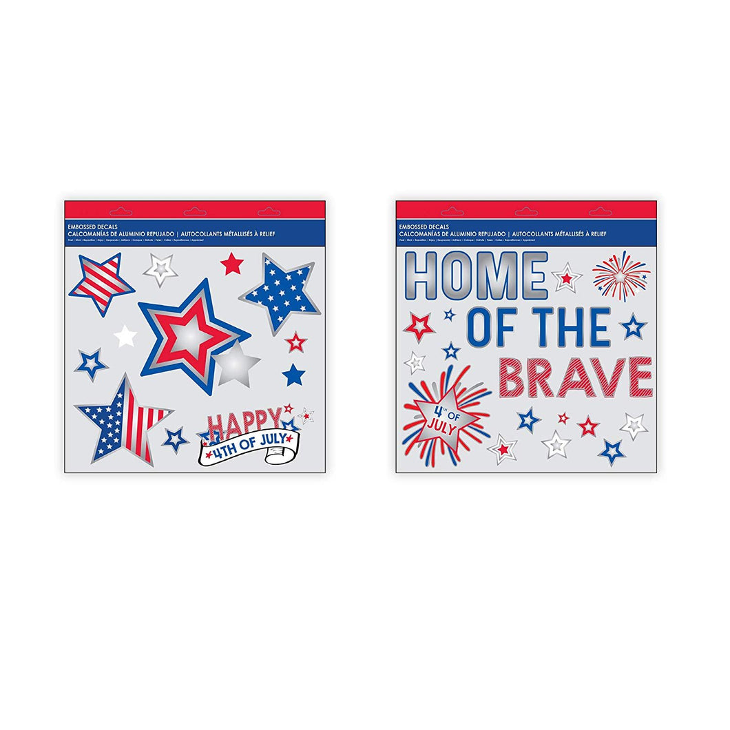 B-THERE Bundle of USA July 4 Decorations Dimensional Wall Art Holo Foil