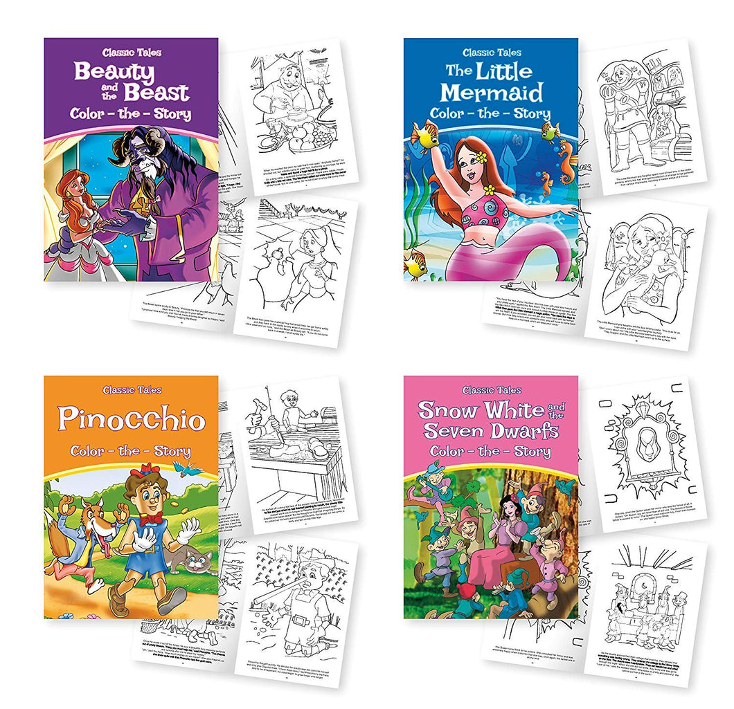 Coloring Activity Book Pack – 4 Classic Tales: