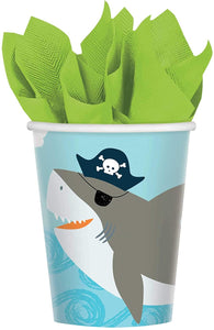 amscan Ahoy Nautical Disposable Paper Cups, 9 oz.- 18 pcs., Multi-Colored, One Size
