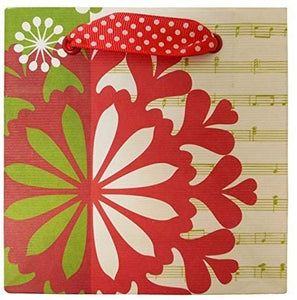 The Gift Wrap Company 12 Count Square Gift Bags, Petite, Festival Flakes