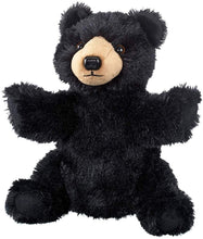 "Load image into Gallery viewer, Wild and Wonderful Wildlife Artists Black Bear 10"" Plush Puppet Toy, Black Bear Puppets Stuffed Animal"