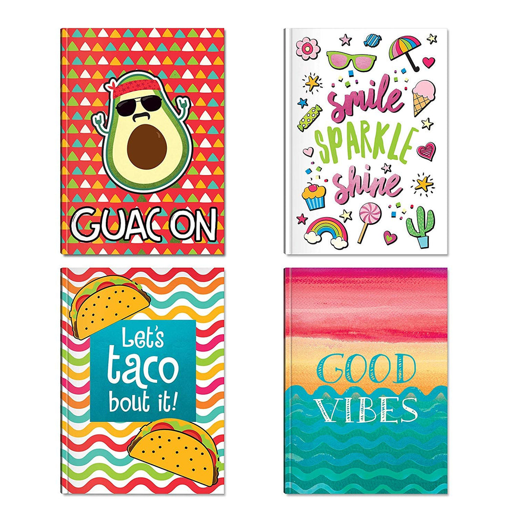 B-THERE Bundle of Hardback Notebooks - 4 Different Designs - 5