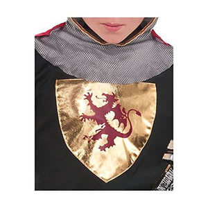 Dragon and Knights Party Brave Crusader Costume, Fabric, Children's Medium (8-10), 6-Piece Set