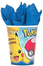 Load image into Gallery viewer, B-THERE Party Pack Bundle of Pokemon Party Supplies Seats 16 - Napkins Plates Cups and Tablecloth - Deluxe Party Pack Supplies