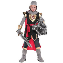 Load image into Gallery viewer, Dragon and Knights Party Brave Crusader Costume, Fabric, Children's Medium (8-10), 6-Piece Set