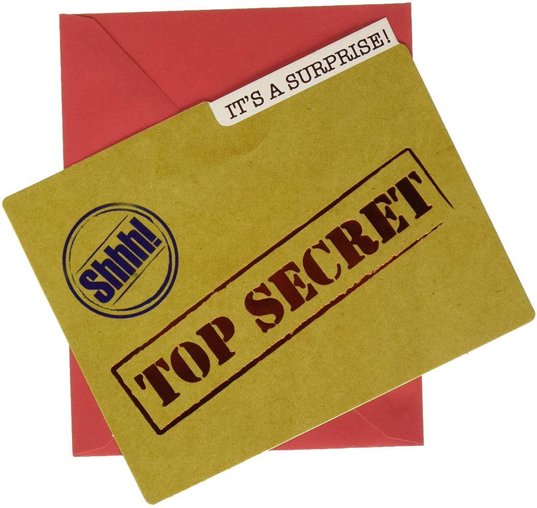 Amscan 490141 Party Supplies Top Secret Large Novelty Invitations (8 Ct), 4 3/4