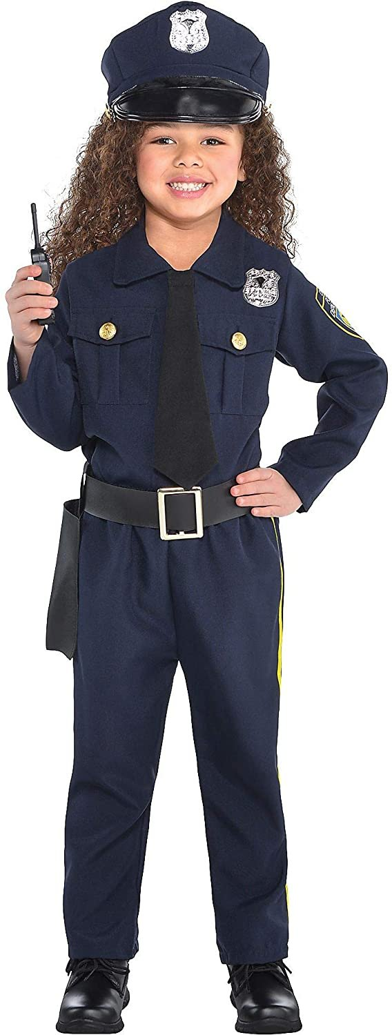 Amscan 848443 Girls Classic Police Officer Costume - Toddler (3-4)