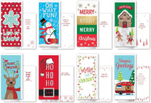 Load image into Gallery viewer, B-THERE Bundle of 24 Value Pack Tall Christmas Greeting Cards - Whimsical, Foil and Glitter Finishes with Envelopes