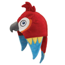 Load image into Gallery viewer, Wild and Wonderful Hats by Wildlife Artists Macaw Plush Stuffed Animal Hat, Childrens Toy Animal Hat
